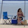Kép 1/4 - Összecsukható kempingszék pohártartóval / horgász szék - kék