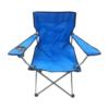 Kép 2/4 - Összecsukható kempingszék pohártartóval / horgász szék - kék