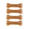 Kép 1/2 - Préselt fogtisztító kutyáknak, tehénbőrből / 4 db, 8,5 cm (BPS-5094)