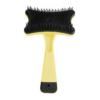Kép 1/2 - Kisállat fésű – szőreltávolító gombbal / sárga (BPS-7010)