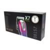 Kép 4/4 - Professzionális vezeték nélküli hajnyíró gép – 4 fejjel / dizájnos, kék-rózsaszín