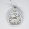 Kép 2/3 - Csillámos karácsonyi szarvas-dísz – ledfénnyel, ezüst