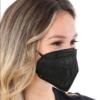 Kép 3/4 - Fekete KN95 légzésvédő arcmaszk / szájmaszk (FFP2) - 20 darabos csomag