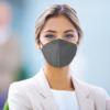 Kép 3/4 - Szürke KN95 légzésvédő arcmaszk / szájmaszk (FFP2) - 5 darabos csomag