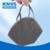 Kép 2/4 - Szürke KN95 légzésvédő arcmaszk / szájmaszk (FFP2) - 5 darabos csomag
