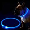 Kép 3/4 - Kicsi világító LED-es nyakörv / méretre vágható, USB-s - kék