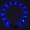 Kép 2/4 - Kicsi világító LED-es nyakörv / méretre vágható, USB-s - kék