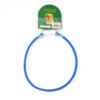 Kép 1/4 - Kicsi világító LED-es nyakörv / méretre vágható, USB-s - kék