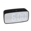 Kép 1/3 - Nagy számlapos, LED ébresztőóra, fehér fényű