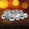 Kép 1/3 - Karácsonyfa gömb készlet, 24 darabos, ezüst