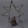 Kép 3/4 - Csúcsdísz karácsonyfára / 31 cm, csillag alakú