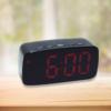 Kép 1/5 - Nagy számlapos, LED ébresztőóra, piros fényű