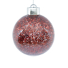 Kép 1/3 - Világító gömb karácsonyfára – ledfényes fenyődísz, vörös