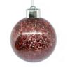Kép 2/3 - Világító gömb karácsonyfára – ledfényes fenyődísz, vörös