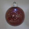 Kép 3/3 - Világító gömb karácsonyfára – ledfényes fenyődísz, vörös