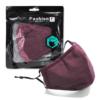 Kép 2/12 - Mosható textil arcmaszk több színben, állítható gumipánttal - fekete