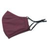 Kép 3/12 - Mosható textil arcmaszk több színben, állítható gumipánttal - fekete