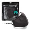 Kép 5/12 - Mosható textil arcmaszk több színben, állítható gumipánttal - fekete