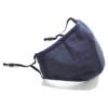 Kép 7/12 - Mosható textil arcmaszk több színben, állítható gumipánttal - fekete
