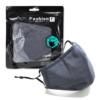 Kép 11/12 - Mosható textil arcmaszk több színben, állítható gumipánttal - fekete
