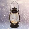 Kép 1/4 - Karácsonyi LED lámpás, 26 cm / Zenél, világít, havas fenyővel (KE-940)