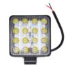 Kép 1/3 - Szuper erős LED munkalámpa, szúrófény járművekre - 48 W / szögletes