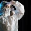 Kép 1/4 - Fejpántos műanyag arcvédő pajzs / átlátszó arcmaszk