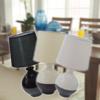Kép 1/7 - Modern kerámia asztali lámpa / E14 foglalattal - 1-es típus
