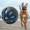 Kép 1/5 - Csipogós játék gumilabda kutyák számára - kék
