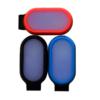 Kép 3/3 - Mini csíptethető ledes biztonsági világítás / hátizsákra, ruhára - narancssárga