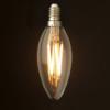 Kép 1/3 - 6W Edison Vintage gyertya izzó / E14 Filament LED