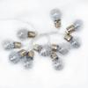 Kép 2/3 - Ezüstszálas LED gömb izzósor / 150 cm, 10 leddel - elemes