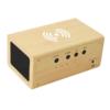 Kép 2/4 - Fahatású Bluetooth kihangosító / vezeték nélküli töltő, óra-, dátum- és hőmérséklet kijelzéssel...