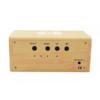 Kép 3/4 - Fahatású Bluetooth kihangosító / vezeték nélküli töltő, óra-, dátum- és hőmérséklet kijelzéssel...