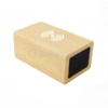 Kép 1/4 - Fahatású Bluetooth kihangosító / vezeték nélküli töltő, óra-, dátum- és hőmérséklet kijelzéssel...