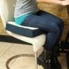 Kép 3/5 - Kétoldalú kényelmi ülőpárna / zselé- és habszivacs párna