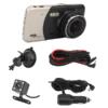 Kép 2/5 - WDR Autós full HD fedélzeti kamera + tolatókamera / menetrögzítő