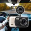 Kép 1/5 - WDR Autós full HD fedélzeti kamera + tolatókamera / menetrögzítő