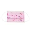 Kép 2/2 - Háromrétegű gyermekszájmaszk csomag vidám mintákkal - 50 darabos, rózsaszín