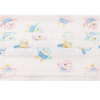 Kép 2/2 - Háromrétegű gyermekszájmaszk csomag vidám mintákkal - 50 darabos, fehér