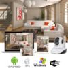 Kép 1/3 - HD WiFi biztonsági kamera mozgásérzékelővel és riasztás funkcióval