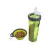 Kép 2/8 - Hordozható étel- és italadagoló kutyáknak / összecsukható szilikon tállal