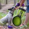 Kép 1/8 - Hordozható étel- és italadagoló kutyáknak / összecsukható szilikon tállal
