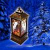 Kép 1/4 - Karácsonyi, kandallót imitáló LED lámpás / 12 cm