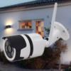 Kép 1/3 - Kültéri HD térfigyelő, biztonsági kamera - mozgásérzékelővel