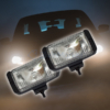 Kép 1/5 - Ködlámpa szett / H3 kiegészítő fényszóró, síküveges