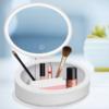 Kép 2/4 - Kozmetikai- és sminkes doboz tükörrel és világítással