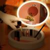 Kép 4/4 - Kozmetikai- és sminkes doboz tükörrel és világítással