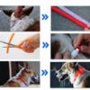 Kép 8/8 - Közepes világító LED-es nyakörv / méretre vágható, USB-s