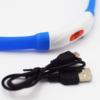 Kép 2/8 - Közepes világító LED-es nyakörv / méretre vágható, USB-s